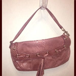 Nine West's Mauve Fake Snake Purse / Wristlet